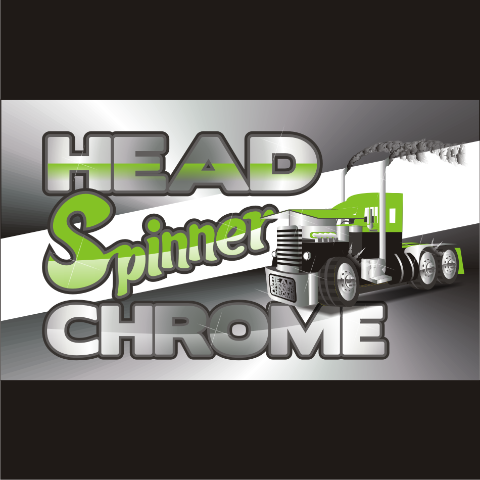 Logo Design by vector.five - Entry No. 8 in the Logo Design Contest Head Spinner Chrome.