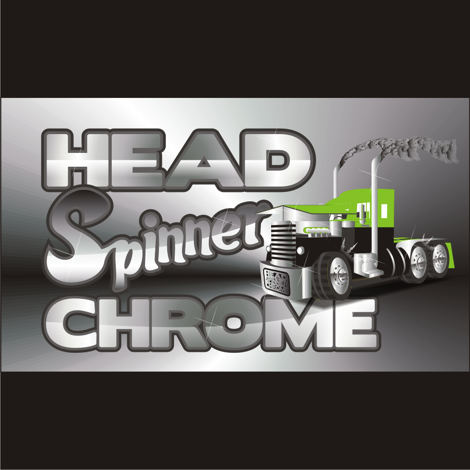 Logo Design by vector.five - Entry No. 9 in the Logo Design Contest Head Spinner Chrome.