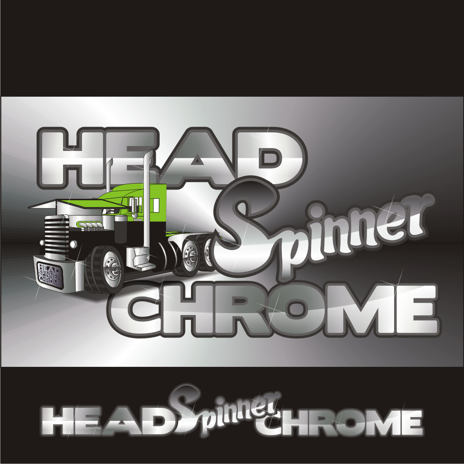 Logo Design by vector.five - Entry No. 11 in the Logo Design Contest Head Spinner Chrome.