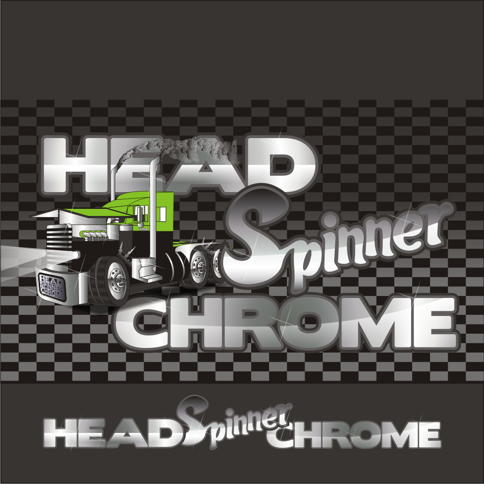 Logo Design by vector.five - Entry No. 12 in the Logo Design Contest Head Spinner Chrome.