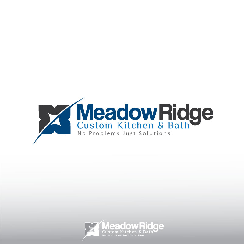 Logo Design by logoziner - Entry No. 121 in the Logo Design Contest Meadow Ridge Custom Kitchen & Bath.
