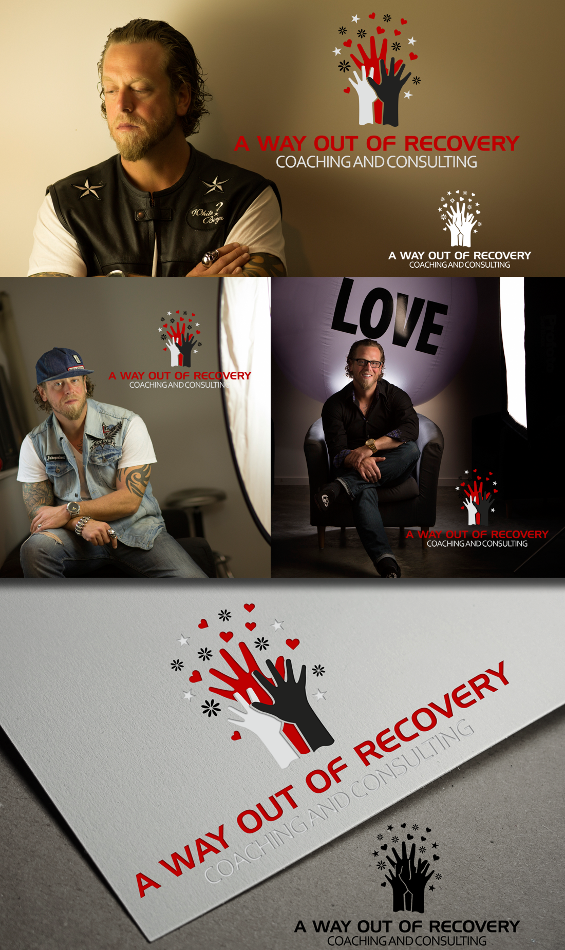 Logo Design by Robert Turla - Entry No. 31 in the Logo Design Contest Inspiring Logo Design for A Way Out Recovery Coaching & Consulting.