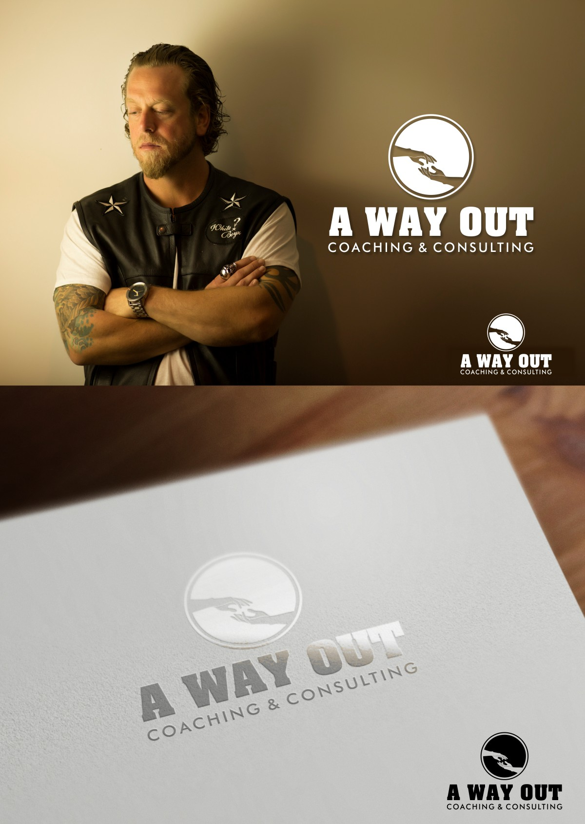 Logo Design by Mhon_Rose - Entry No. 34 in the Logo Design Contest Inspiring Logo Design for A Way Out Recovery Coaching & Consulting.