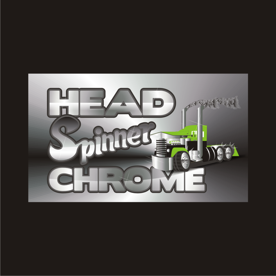 Logo Design by vector.five - Entry No. 21 in the Logo Design Contest Head Spinner Chrome.