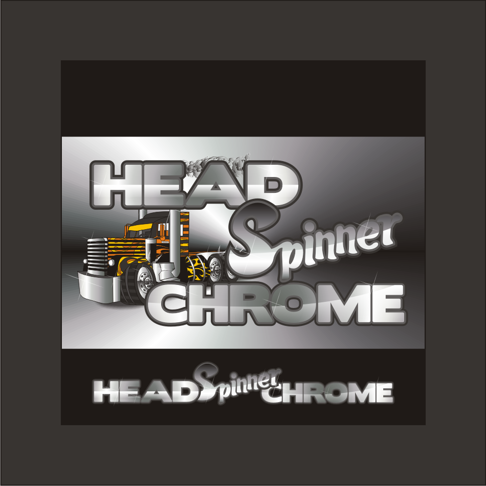 Logo Design by vector.five - Entry No. 22 in the Logo Design Contest Head Spinner Chrome.