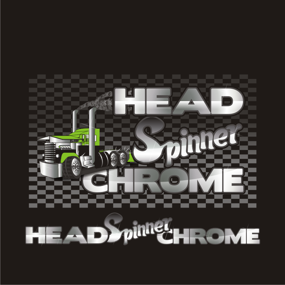 Logo Design by vector.five - Entry No. 23 in the Logo Design Contest Head Spinner Chrome.