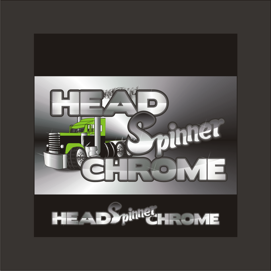 Logo Design by vector.five - Entry No. 25 in the Logo Design Contest Head Spinner Chrome.