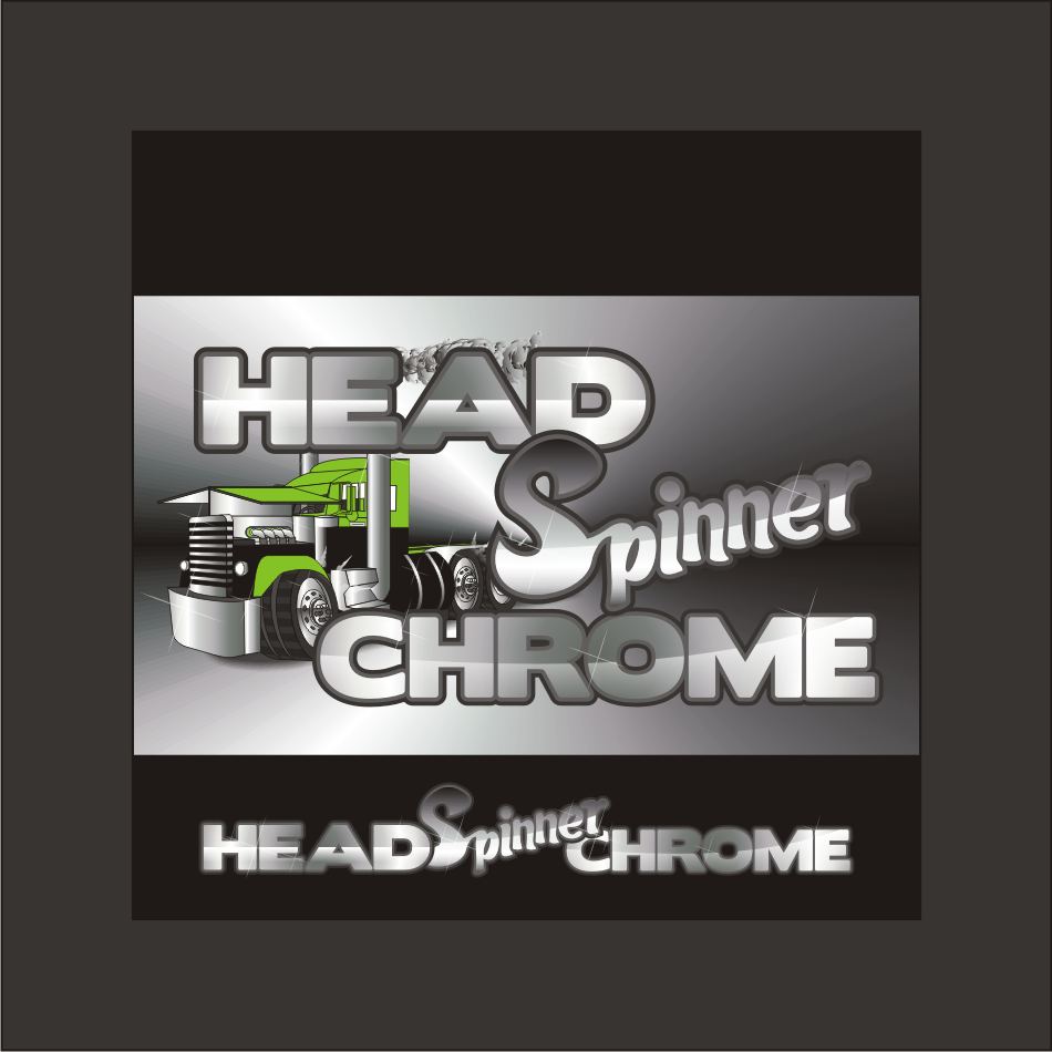 Logo Design by vector.five - Entry No. 29 in the Logo Design Contest Head Spinner Chrome.