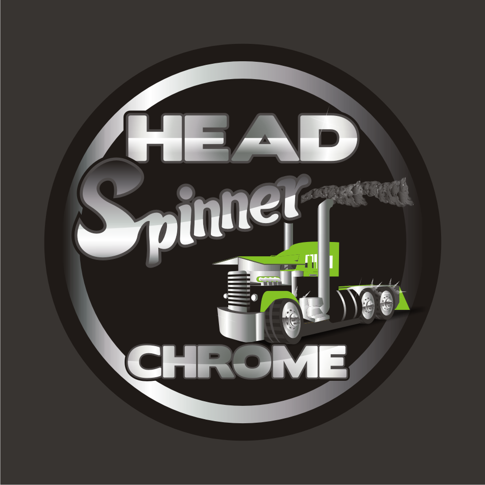 Logo Design by vector.five - Entry No. 37 in the Logo Design Contest Head Spinner Chrome.