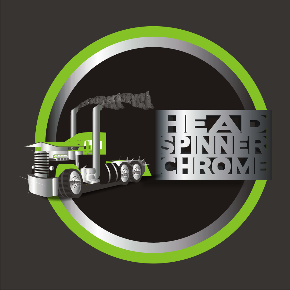 Logo Design by vector.five - Entry No. 39 in the Logo Design Contest Head Spinner Chrome.