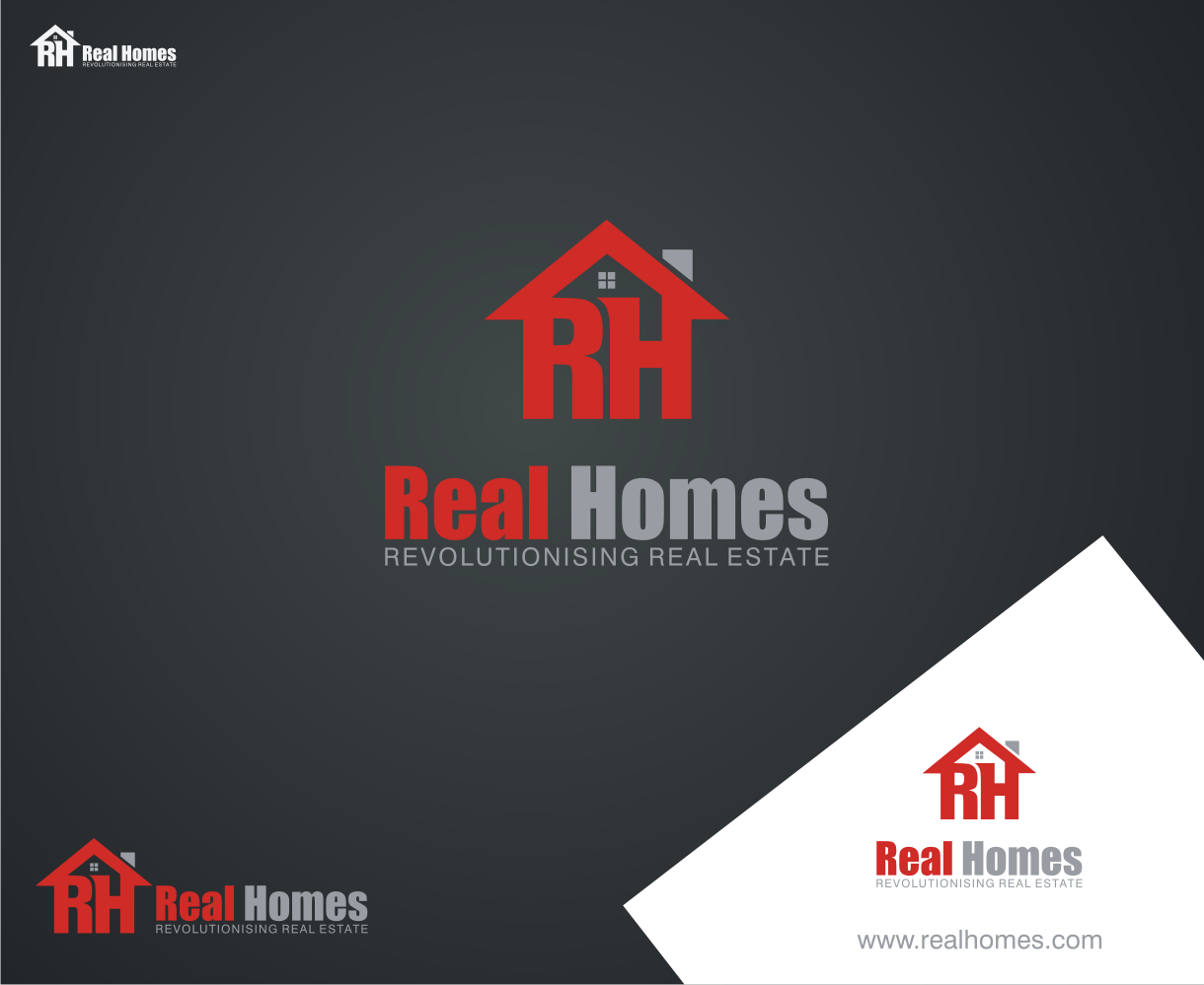 Logo Design by SonyArt - Entry No. 14 in the Logo Design Contest Captivating Logo Design for Real Homes.
