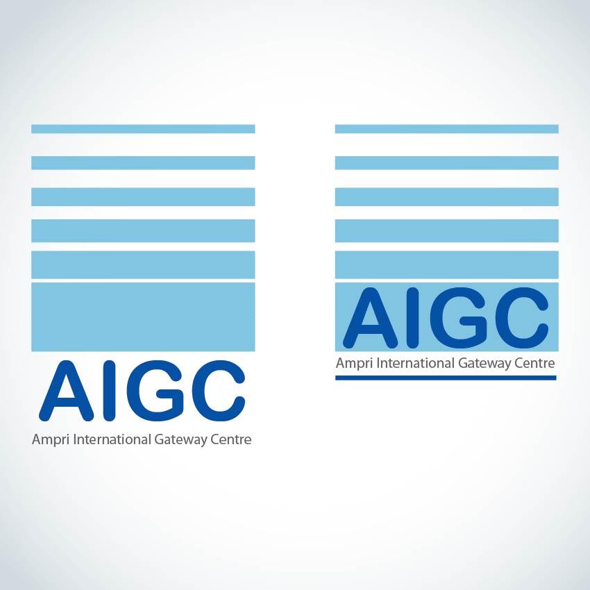 Logo Design by aesthetic-art - Entry No. 130 in the Logo Design Contest Ampri International Gateway Centre (AIGC).