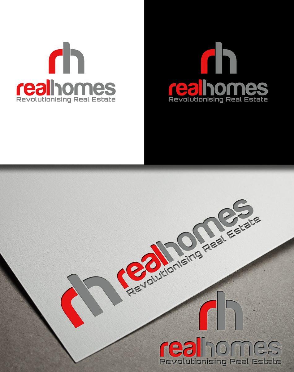 Logo Design by Robert Turla - Entry No. 40 in the Logo Design Contest Captivating Logo Design for Real Homes.