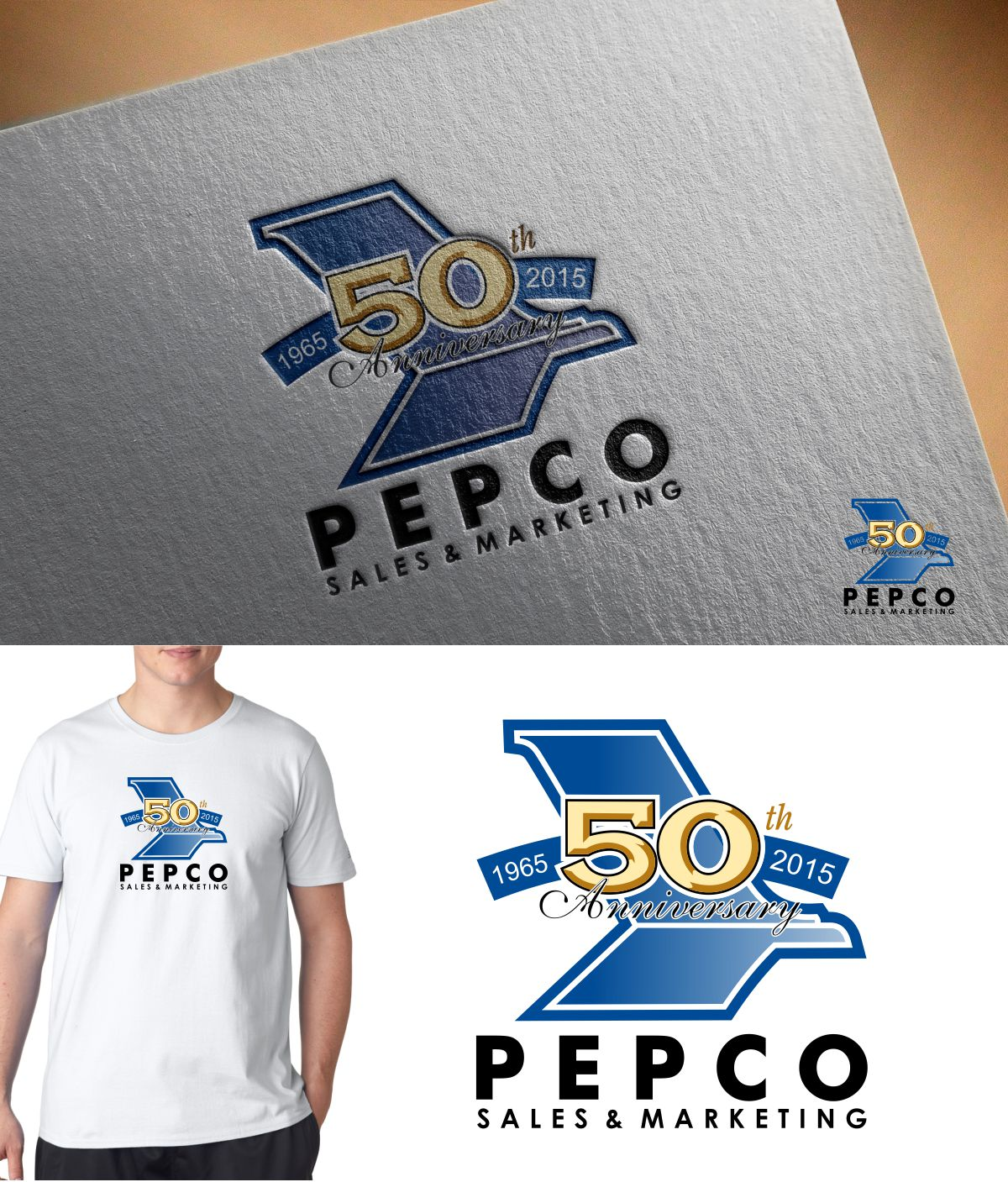 Logo Design by Mhon_Rose - Entry No. 25 in the Logo Design Contest 50th Anniversary Logo Design for Pepco Sales  & Marketing.