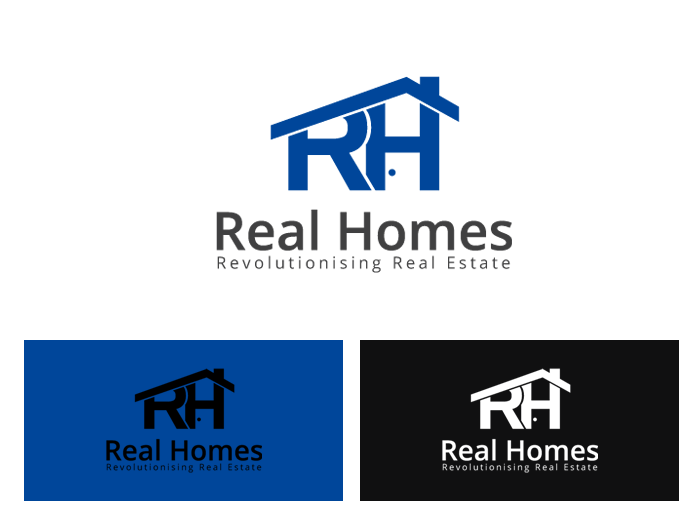 Logo Design by Jan Chua - Entry No. 98 in the Logo Design Contest Captivating Logo Design for Real Homes.