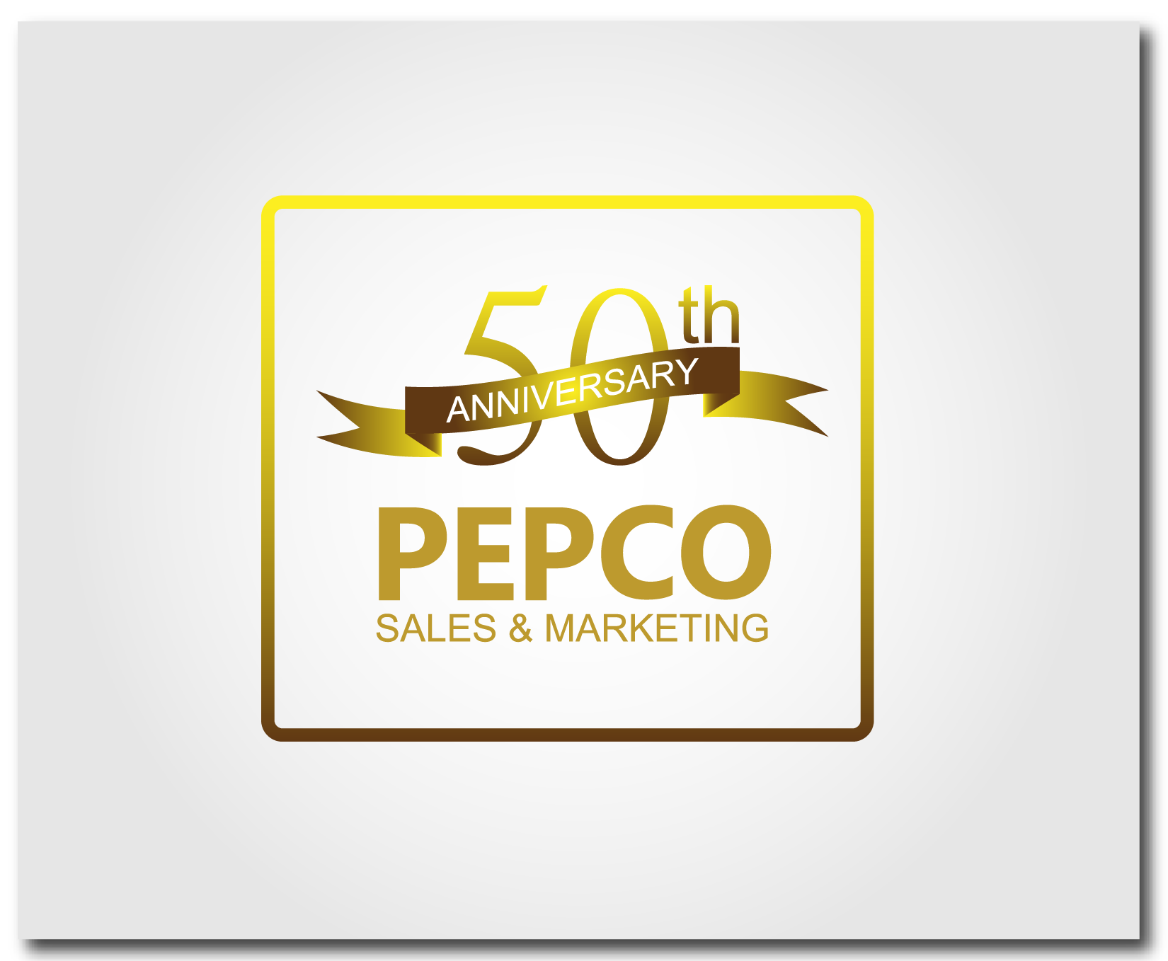 Logo Design by Asep P Kurnia - Entry No. 88 in the Logo Design Contest 50th Anniversary Logo Design for Pepco Sales  & Marketing.