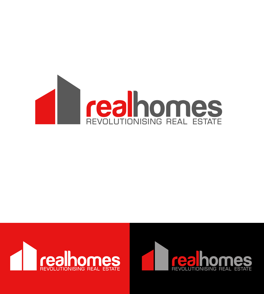 Logo Design by Robert Turla - Entry No. 120 in the Logo Design Contest Captivating Logo Design for Real Homes.