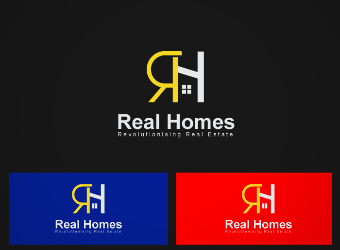 Logo Design by Jan Chua - Entry No. 136 in the Logo Design Contest Captivating Logo Design for Real Homes.