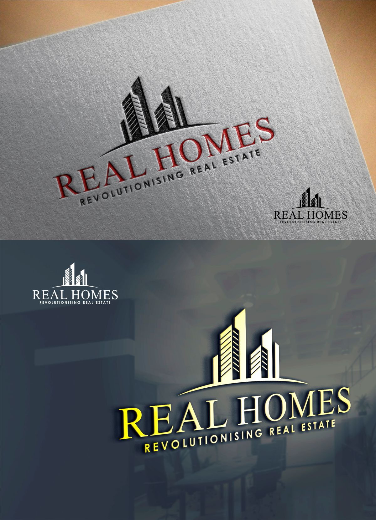Logo Design by Mhon_Rose - Entry No. 161 in the Logo Design Contest Captivating Logo Design for Real Homes.