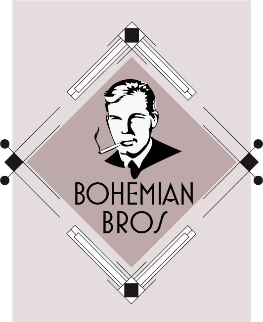 Logo Design by Alexandra Douglas - Entry No. 99 in the Logo Design Contest Creative Logo Design for Bohemian Bros.