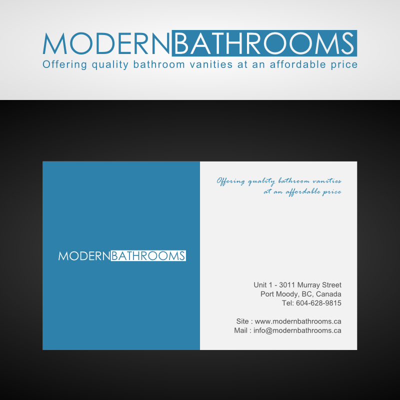 Business Card Design by Andrean Susanto - Entry No. 36 in the Business Card Design Contest modernbathrooms.ca image enhancement.