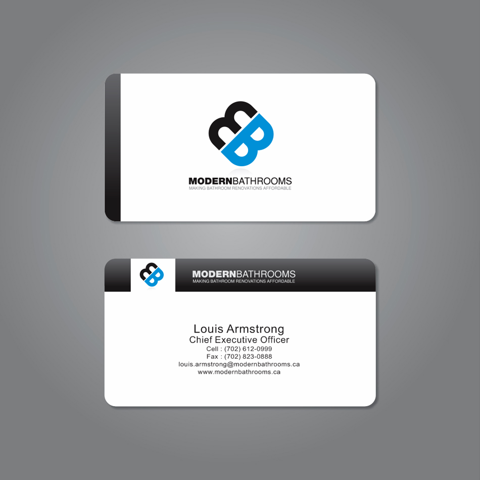 Business Card Design by moxlabs - Entry No. 37 in the Business Card Design Contest modernbathrooms.ca image enhancement.