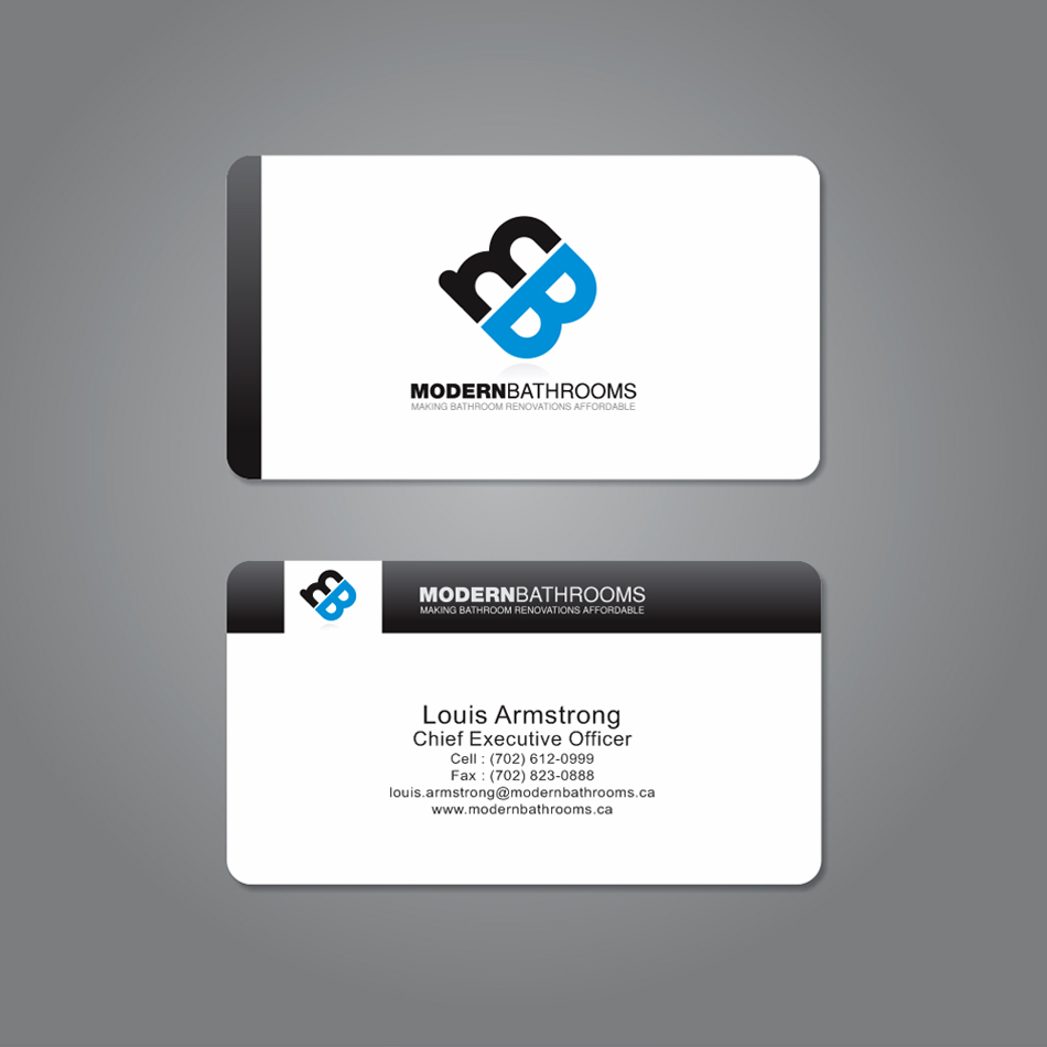 Business Card Design by moxlabs - Entry No. 38 in the Business Card Design Contest modernbathrooms.ca image enhancement.