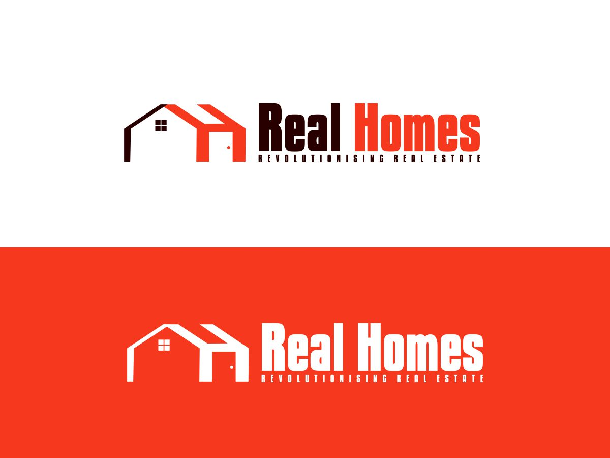 Logo Design by Mhon_Rose - Entry No. 220 in the Logo Design Contest Captivating Logo Design for Real Homes.