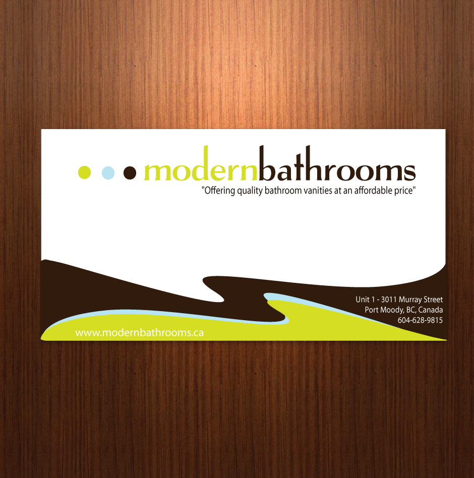 Business Card Design by moonflower - Entry No. 40 in the Business Card Design Contest modernbathrooms.ca image enhancement.