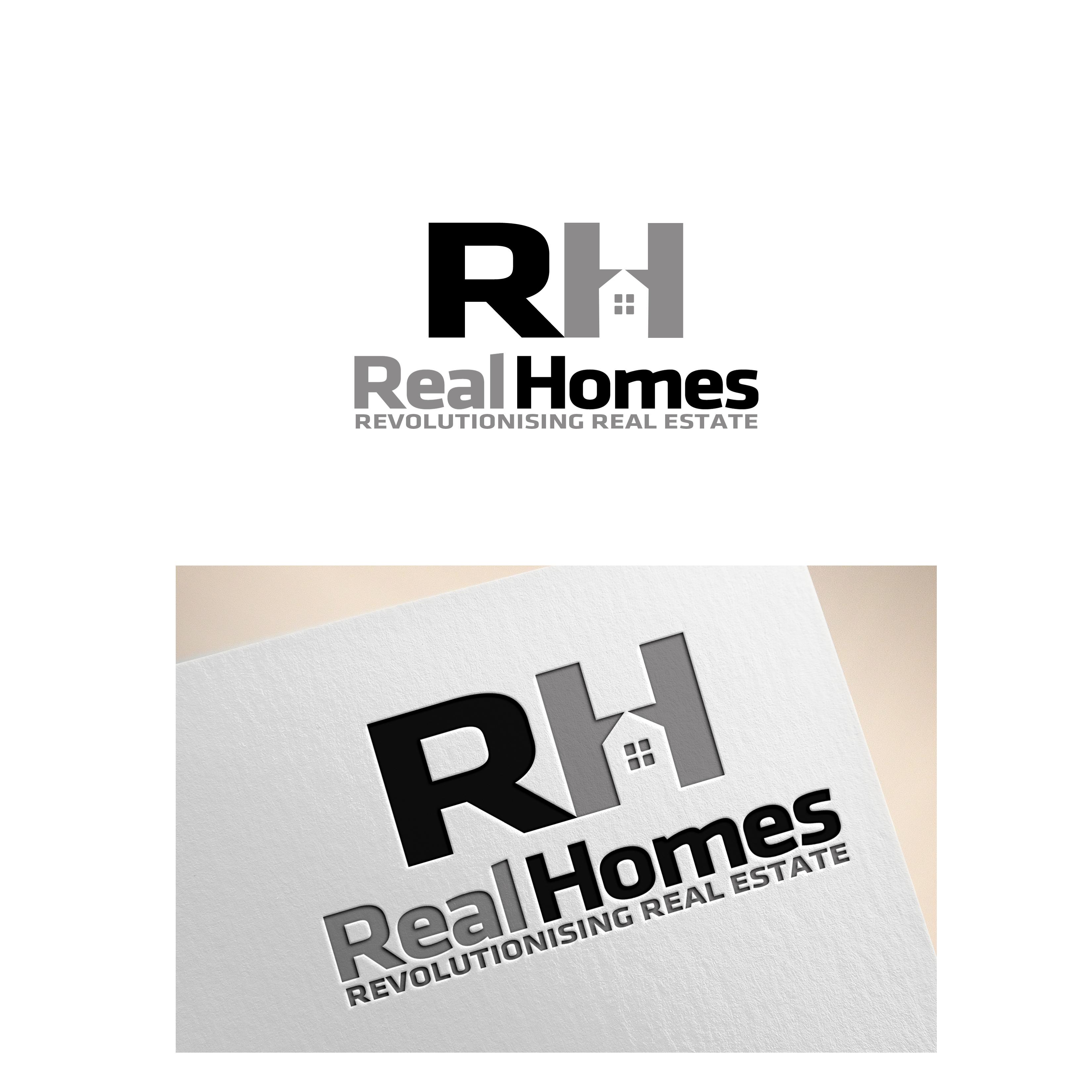 Logo Design by Allan Esclamado - Entry No. 251 in the Logo Design Contest Captivating Logo Design for Real Homes.