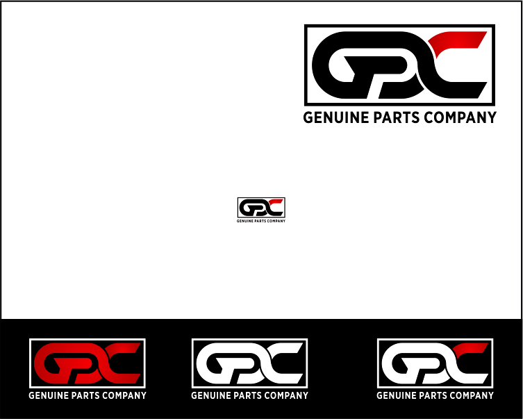 Logo Design by Armada Jamaluddin - Entry No. 20 in the Logo Design Contest Captivating Logo Design for Genuine Parts Company.