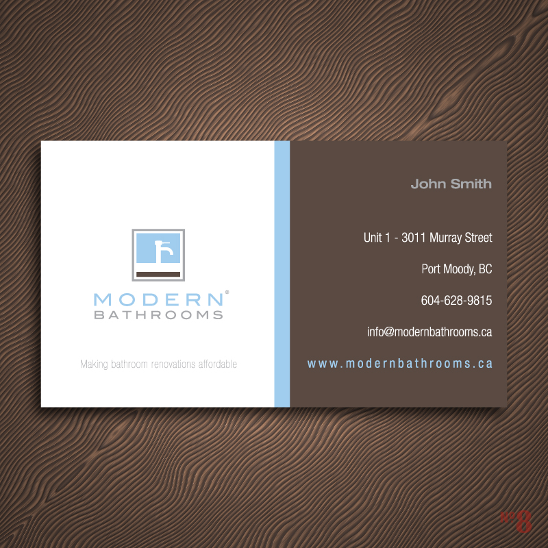 Business Card Design by Number-Eight-Design - Entry No. 48 in the Business Card Design Contest modernbathrooms.ca image enhancement.