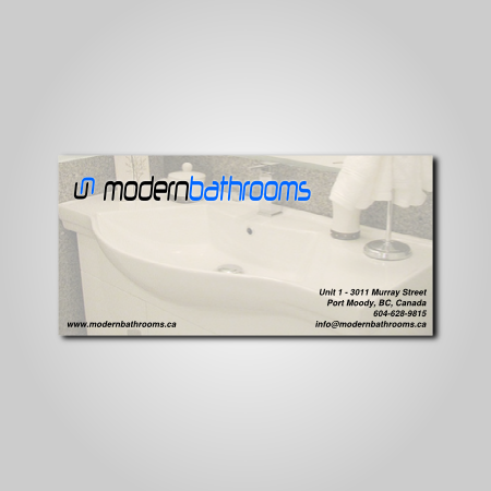 Business Card Design by profahmed - Entry No. 51 in the Business Card Design Contest modernbathrooms.ca image enhancement.