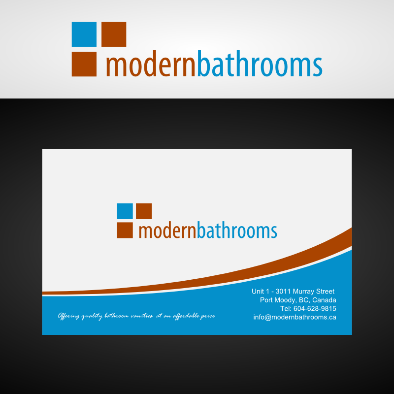 Business Card Design by Andrean Susanto - Entry No. 55 in the Business Card Design Contest modernbathrooms.ca image enhancement.