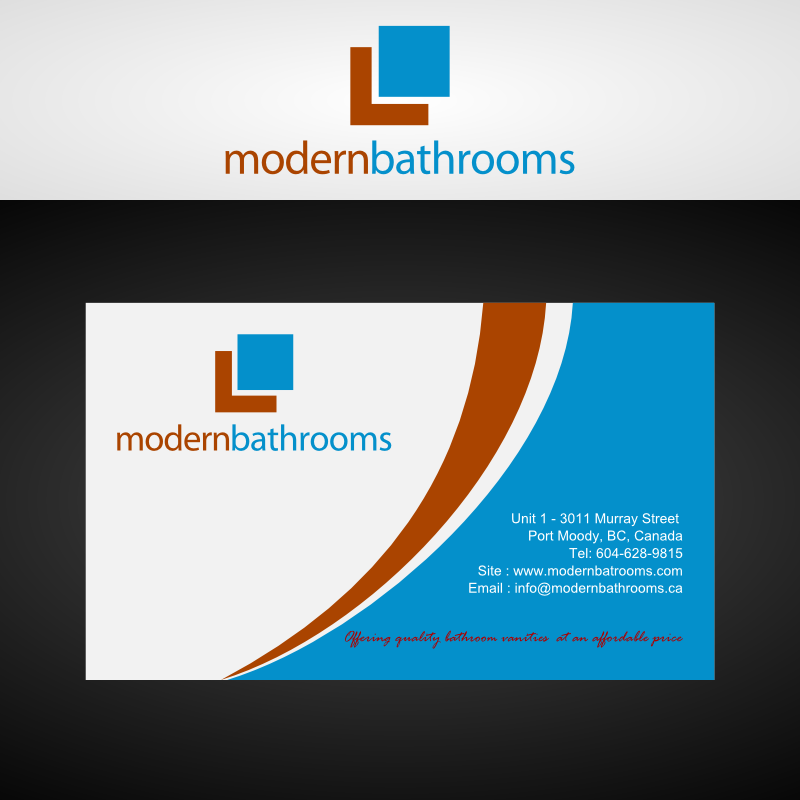 Business Card Design by Andrean Susanto - Entry No. 56 in the Business Card Design Contest modernbathrooms.ca image enhancement.