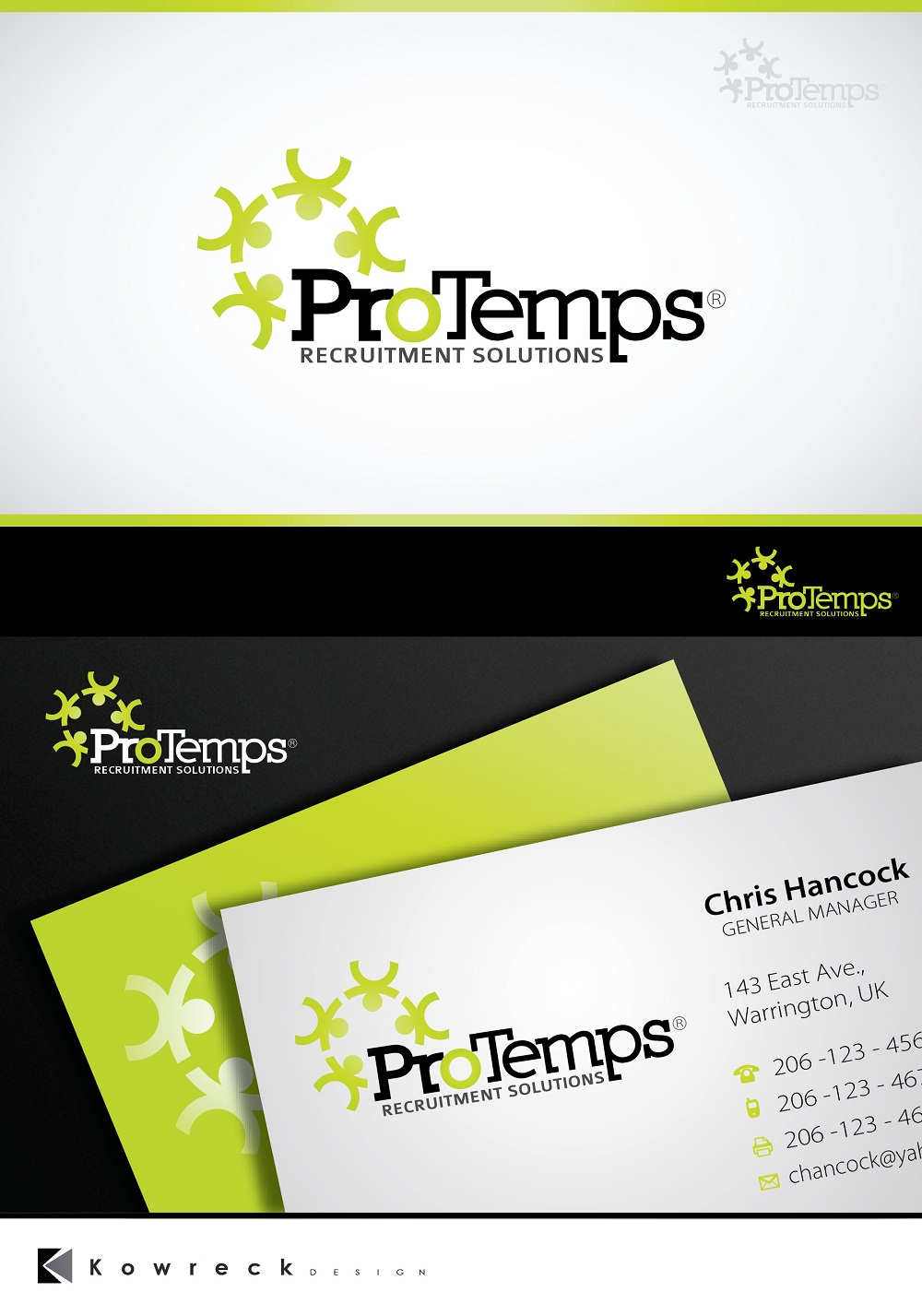 Logo Design by kowreck - Entry No. 20 in the Logo Design Contest Logo Design for ProTemps Recruitment Solutions.