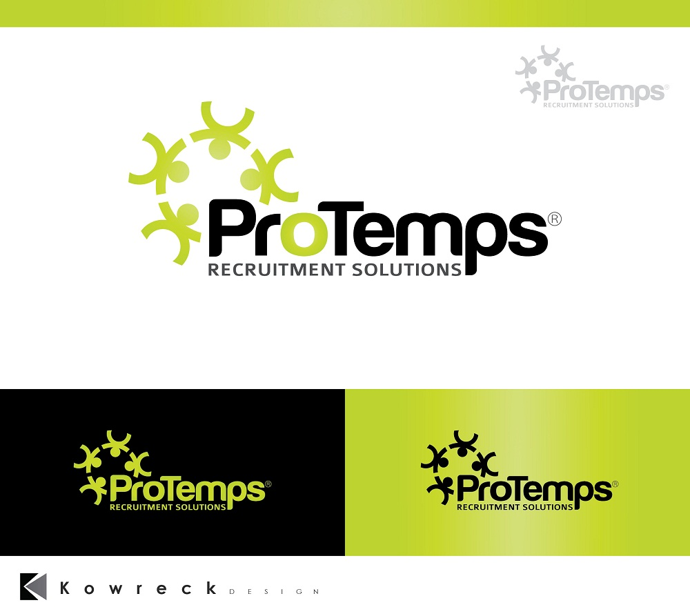 Logo Design by kowreck - Entry No. 21 in the Logo Design Contest Logo Design for ProTemps Recruitment Solutions.