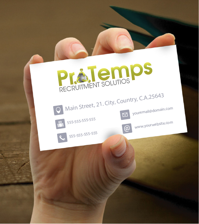 Logo Design by Private User - Entry No. 50 in the Logo Design Contest Logo Design for ProTemps Recruitment Solutions.