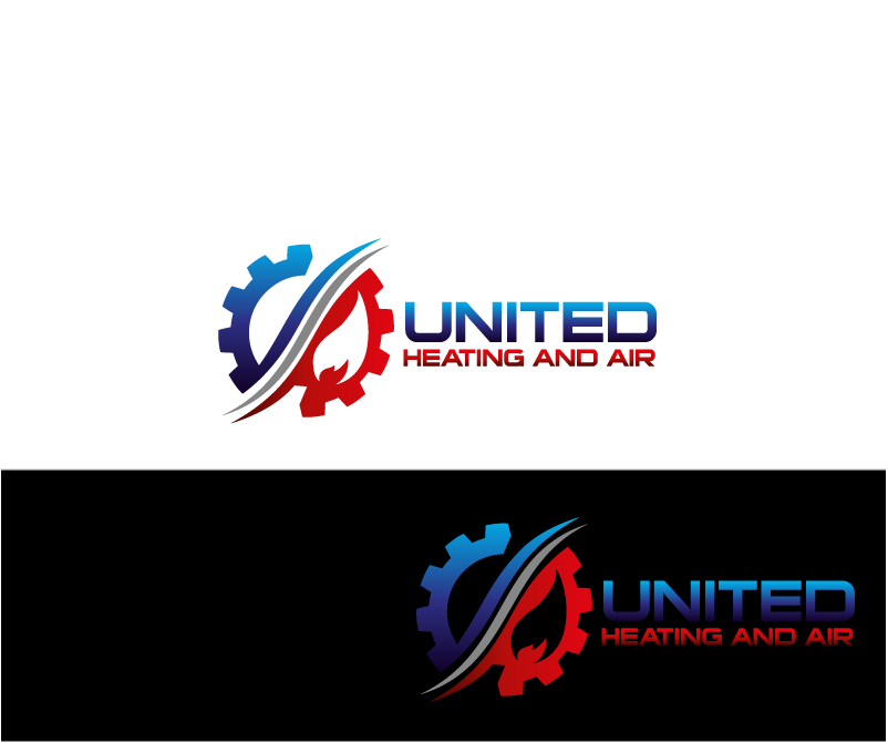 Logo Design by Private User - Entry No. 2 in the Logo Design Contest United Heating and Air Logo Design.