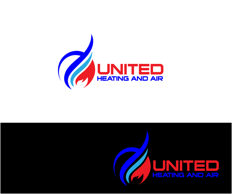 Logo Design by Private User - Entry No. 4 in the Logo Design Contest United Heating and Air Logo Design.
