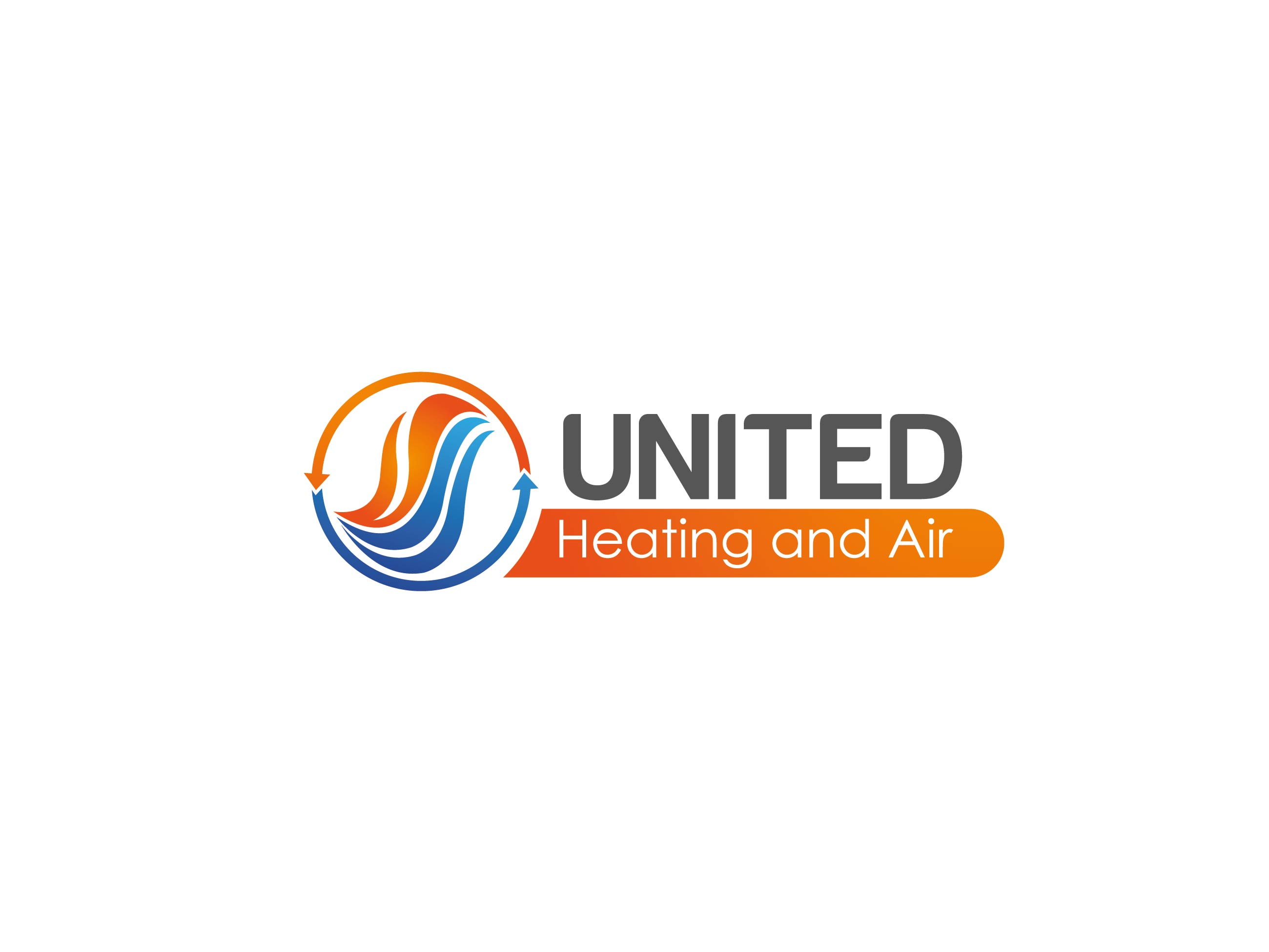 Logo Design by Adnan Taqi - Entry No. 21 in the Logo Design Contest United Heating and Air Logo Design.