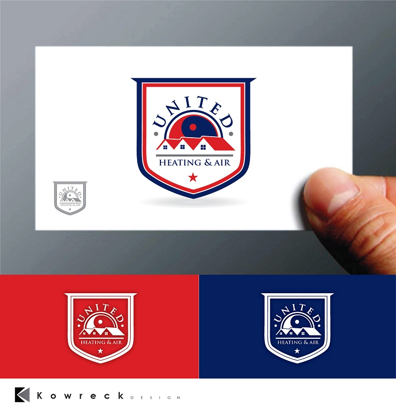 Logo Design by kowreck - Entry No. 28 in the Logo Design Contest United Heating and Air Logo Design.