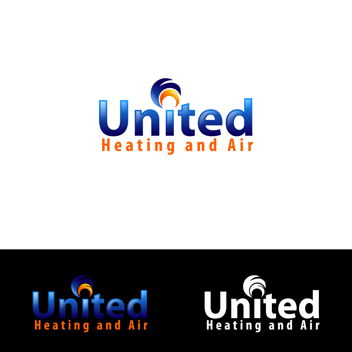 Logo Design by lagalag - Entry No. 39 in the Logo Design Contest United Heating and Air Logo Design.