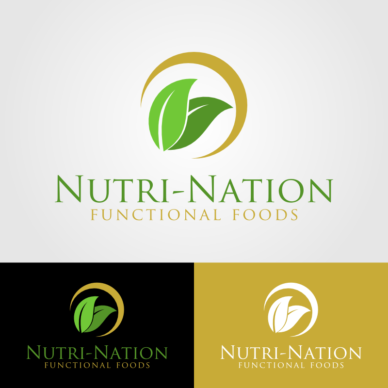 Logo Design by Andrean Susanto - Entry No. 16 in the Logo Design Contest Nutri-Nation Functional Foods Logo.