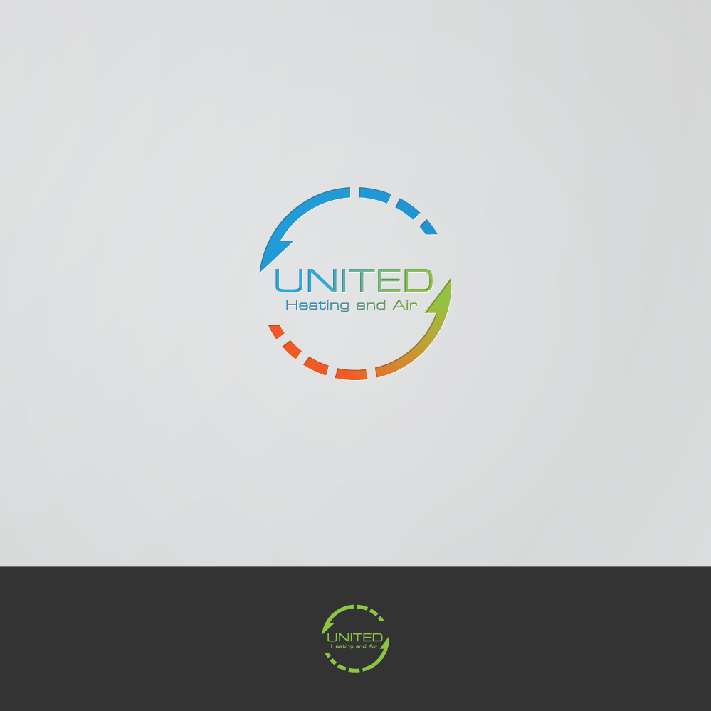 Logo Design by zesthar - Entry No. 75 in the Logo Design Contest United Heating and Air Logo Design.