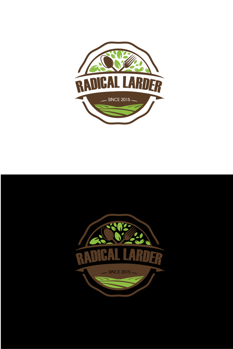 Logo Design by brands_in - Entry No. 2 in the Logo Design Contest Captivating Logo Design for The Radical Larder.
