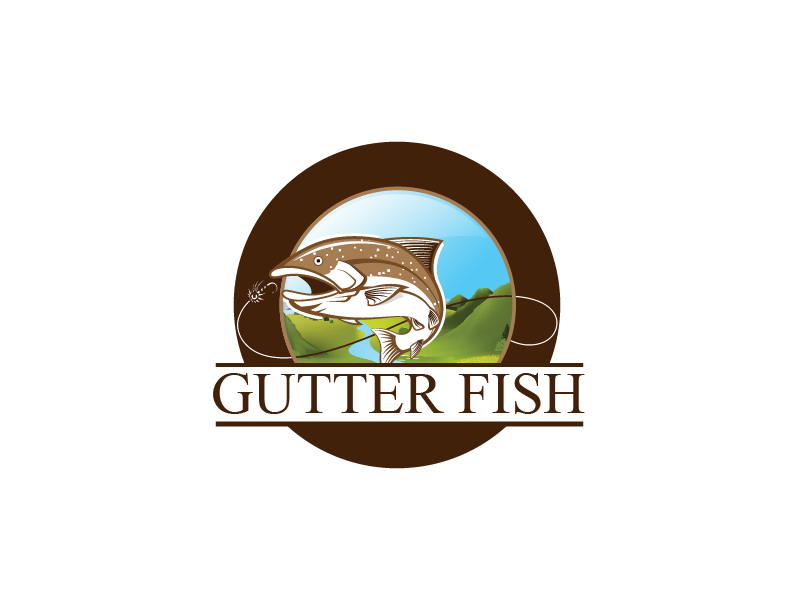 Logo Design by Private User - Entry No. 100 in the Logo Design Contest Captivating Logo Design for Gutter Fish.