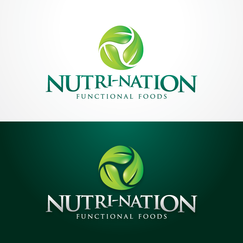 Logo Design by Alf - Entry No. 47 in the Logo Design Contest Nutri-Nation Functional Foods Logo.