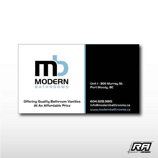 Business Card Design by RA-Design - Entry No. 83 in the Business Card Design Contest modernbathrooms.ca image enhancement.