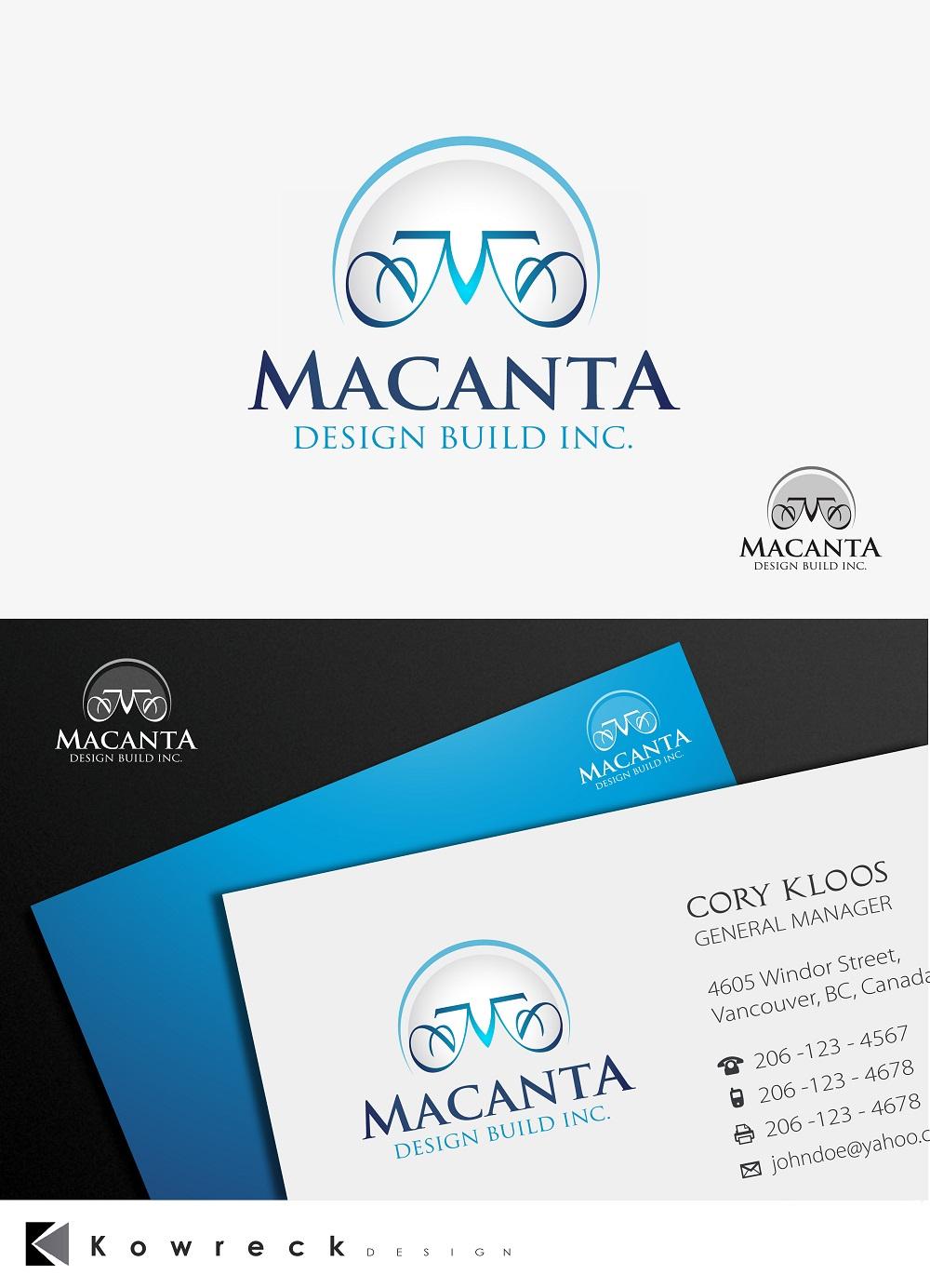 Logo Design by kowreck - Entry No. 167 in the Logo Design Contest Captivating Logo Design for Macanta Design Build Inc.
